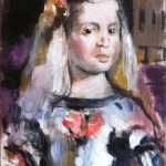 """""""Menina"""" Acrílico y óleo sobre tabla 35 x 22 cm. 2013."""