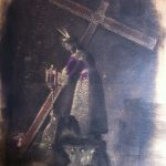 """Jesús Nazareno"" Técnica mixta sobre tabla. 42 x 29 cm. 2014."
