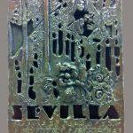"""Cartel bronce """"Luz y gracia de sevilla"""" Bronce a la cera perdida. 35 x 25 cm. 2012."""