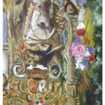 """""""Cartel Rocio de Triana"""" Acrílico sobre tabla. 40 x 29 cm. 2012."""