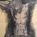 """"""" Cristo del Amor"""" Carbón y pastel sobre tabla. 30 x 22 cm. 2013."""