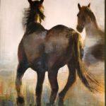 """""""Al Galope"""" Acrílico sobre tabla. 100 x 70 cm. 2010."""