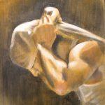 """""""Costalero"""" Acrílico sobre tabla. 70 x 50 cm. 2010."""