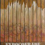 """""""Carte Expocofrade y Fiestas de la Macarena2009"""" Técnica mixta sobre tabla. 120 x 80 cm. 2009."""