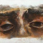 """""""Los Ojos del Señor"""" Pastel sobre tabla. 42 x 29 cm. 2015"""