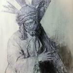 """""""El Señor"""" Técnica mixta sobre tabla. 42 x 29 cm. 2015."""